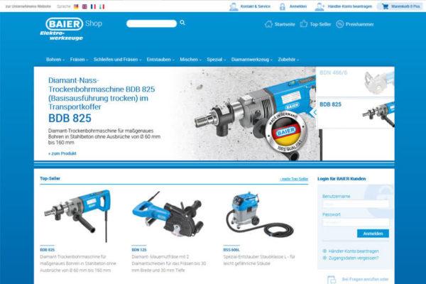 Onlineshop mit ERP-System Baier Tools