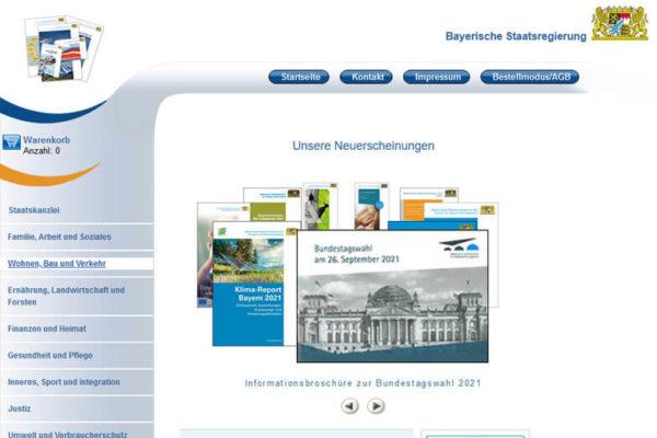 Onlineshop mit ERP-System Bayrisch Staatsregierung