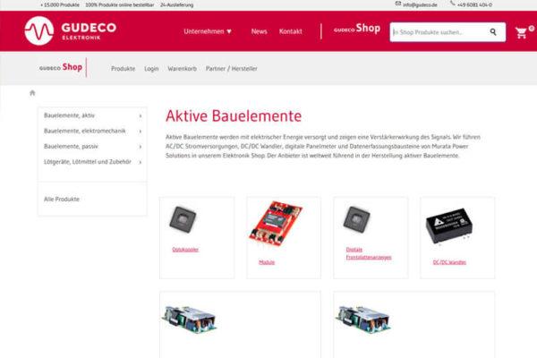 Onlineshop mit ERP-System Gudeco Elektrogroßhandel