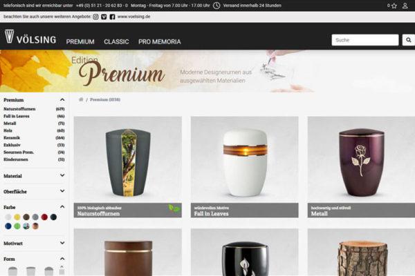 Onlineshop mit ERP-System Völsing Großhandel