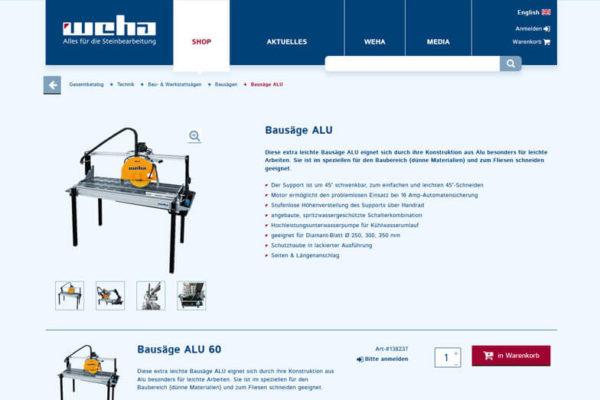 Onlineshop mit ERP-System Weha