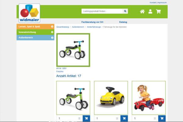 Onlineshop mit ERP-System Widmaier